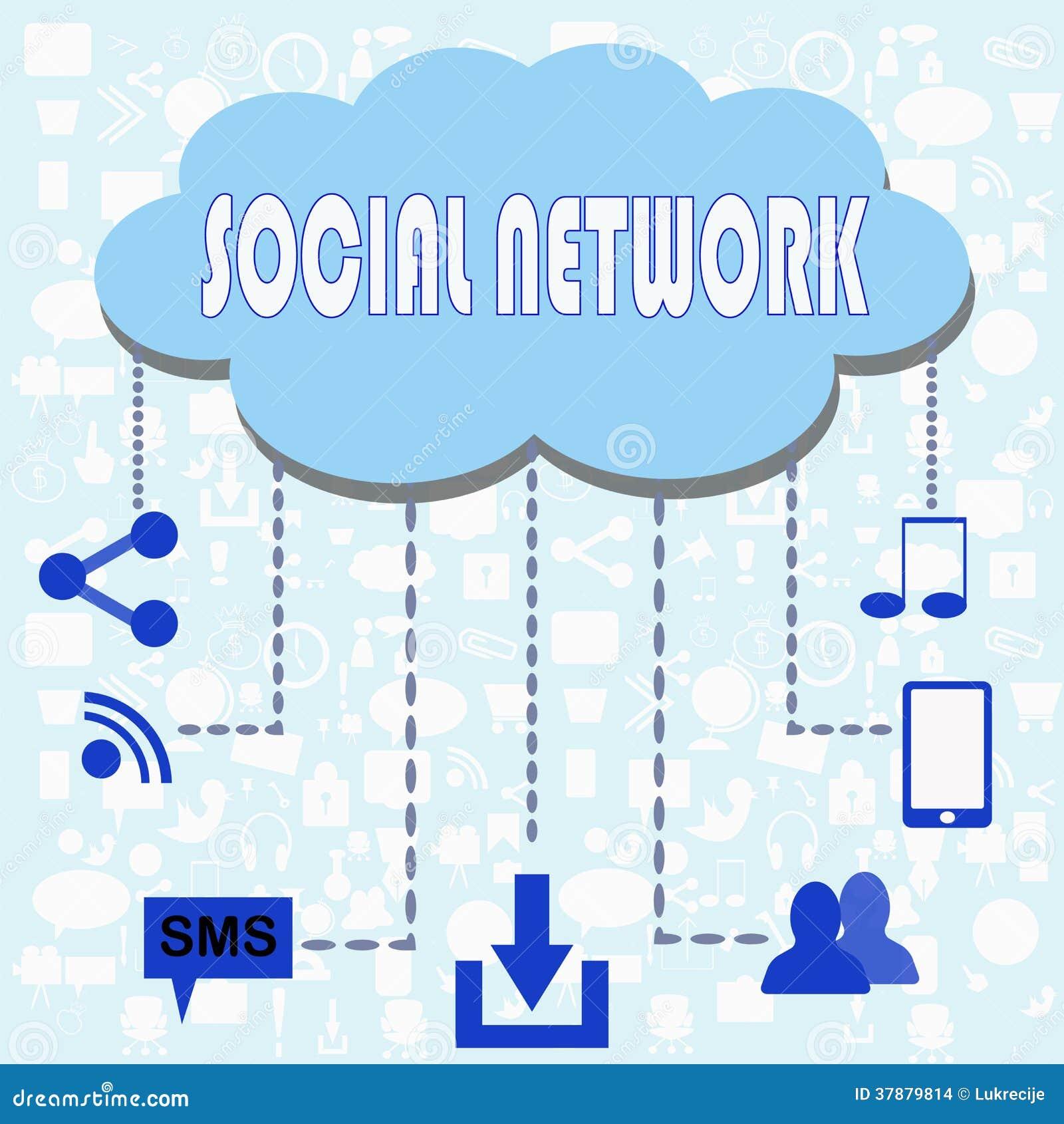 Sociale netwerkillustratie