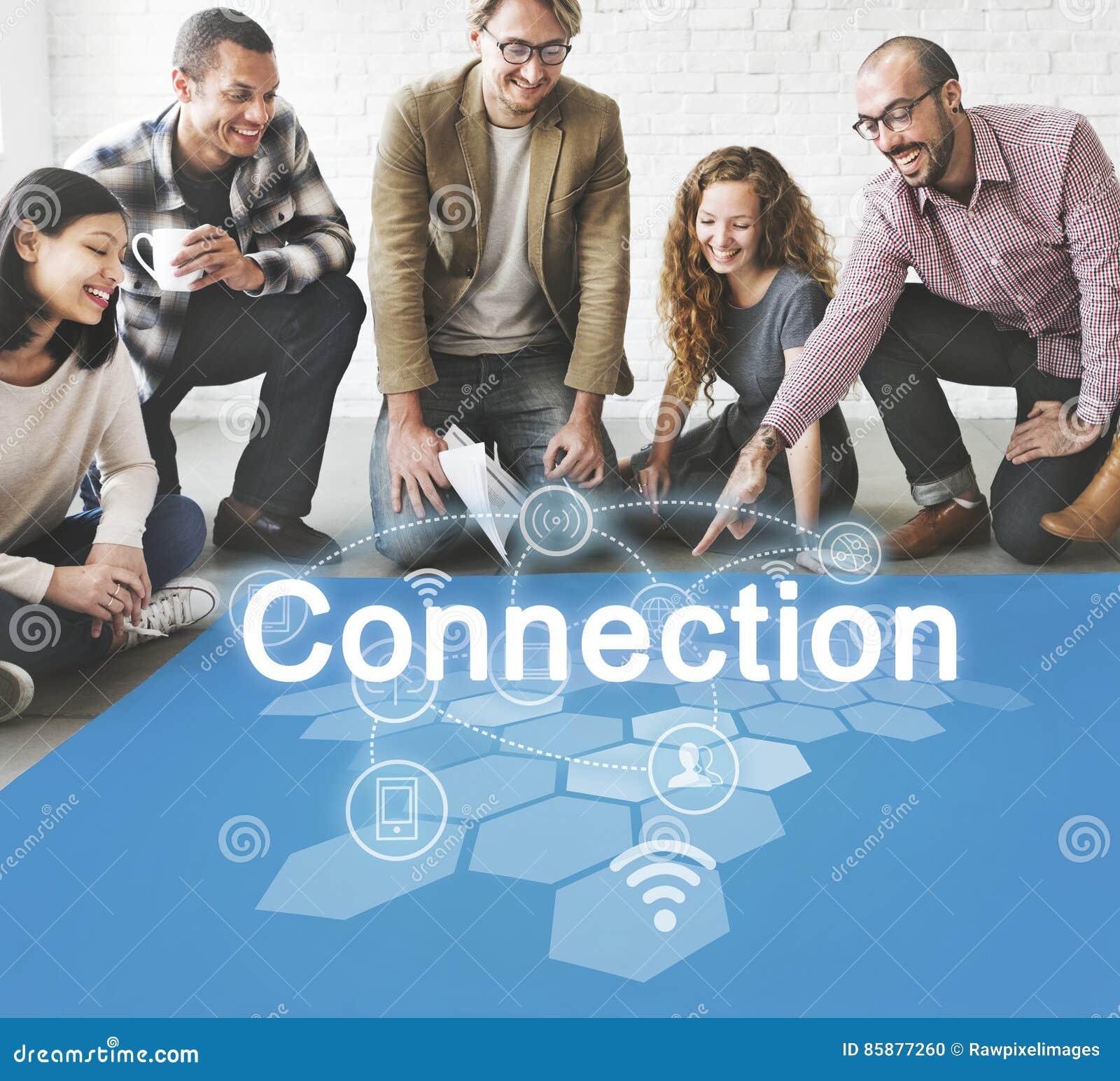 Socialt begrepp för nätverksinternetuppkopplingteknologi