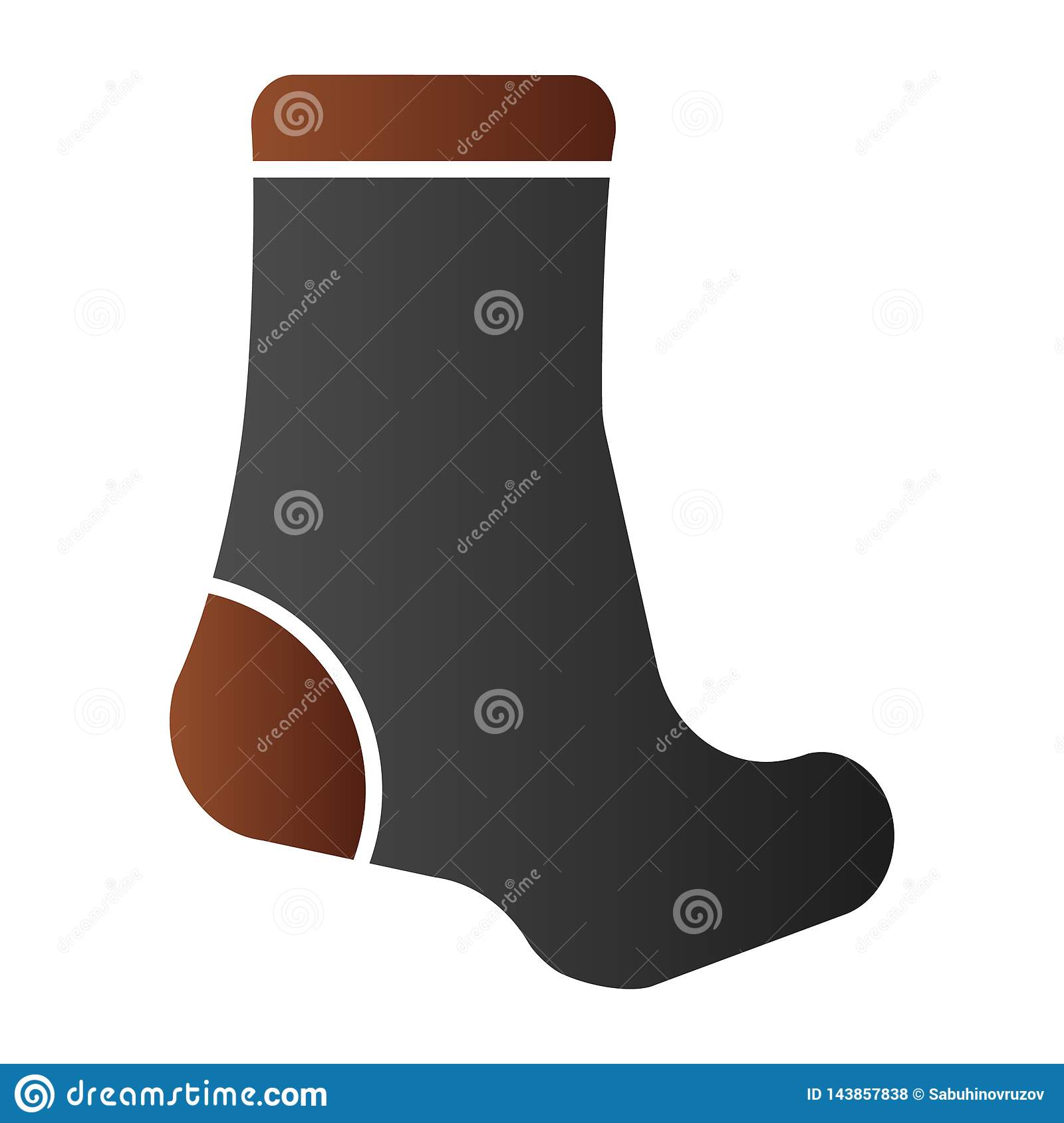 Sock Flat Icon  Textile Clothing Color Icons In Trendy Flat