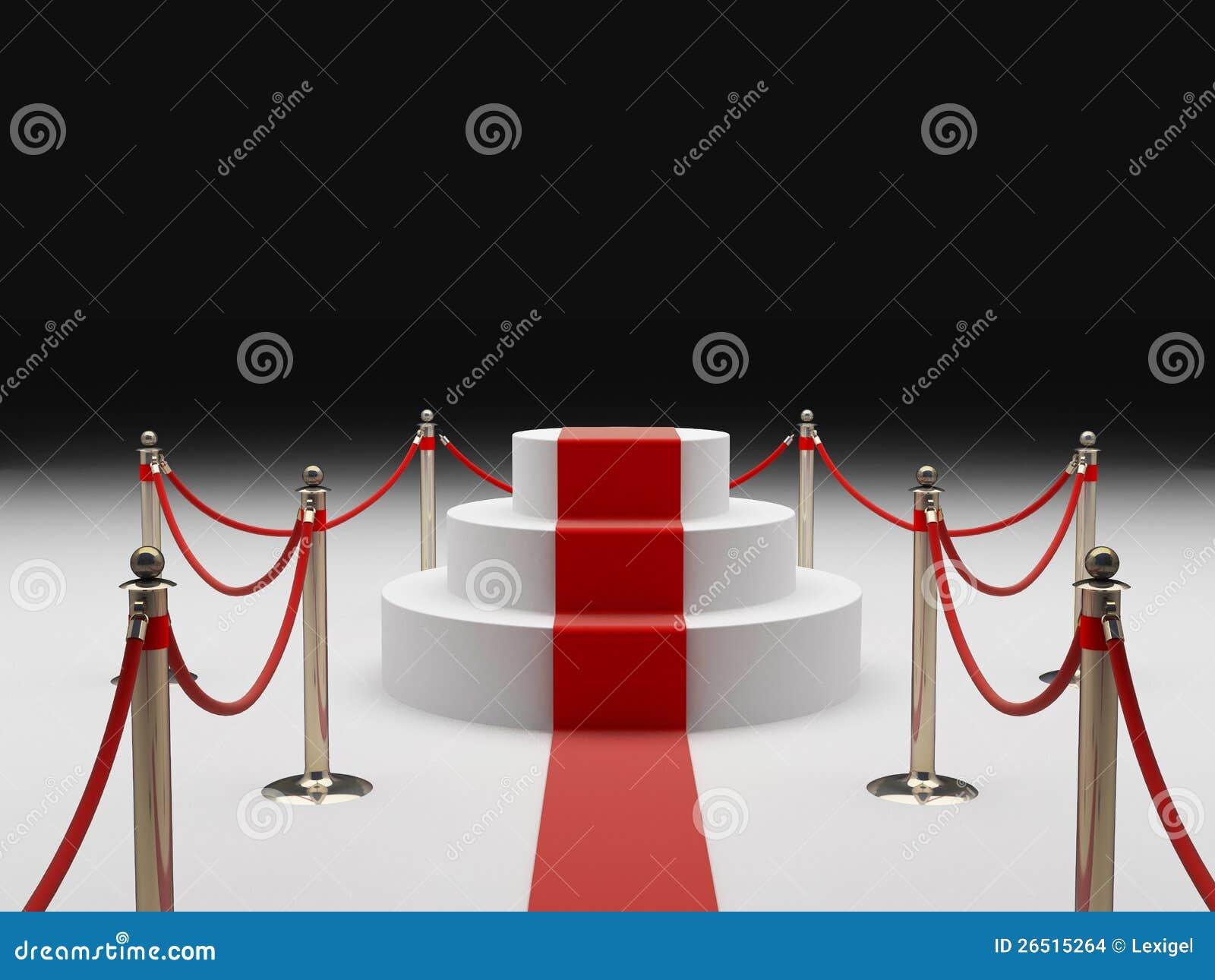 Staket för röd matta royaltyfria bilder   bild: 26882099