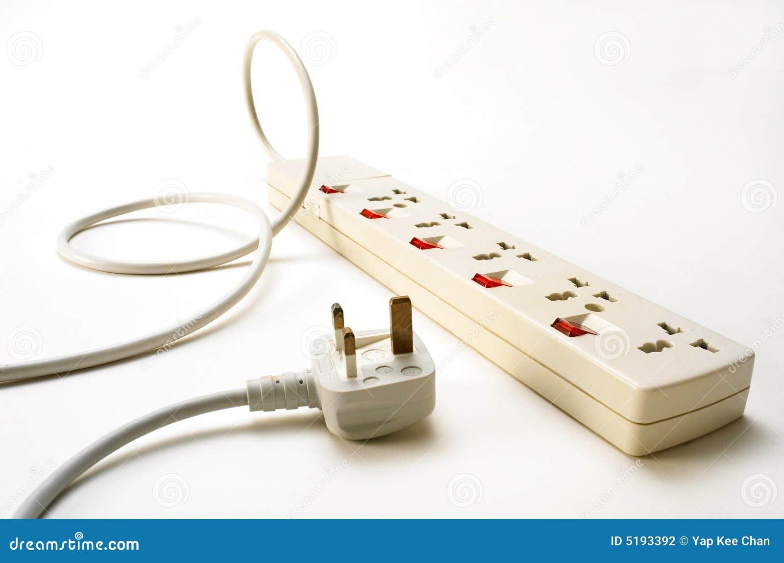 Socket y enchufe de potencia