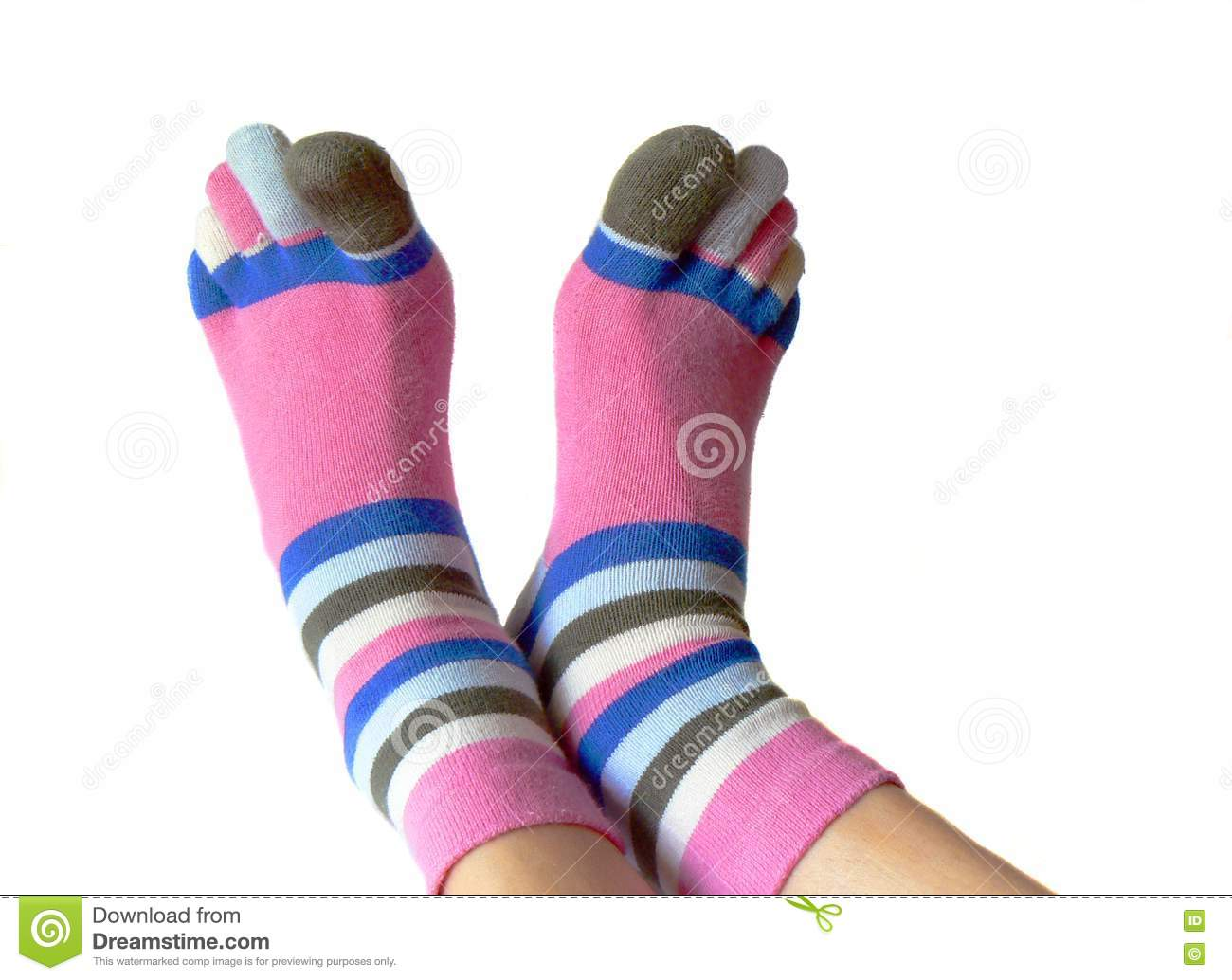 half price buy cheap offer discounts Socks With Toes Picture. Image: 5557077