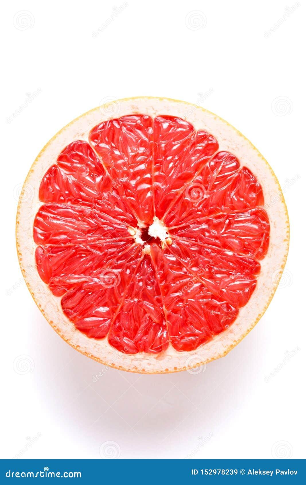 Soczysty grapefruitowy na białym tle