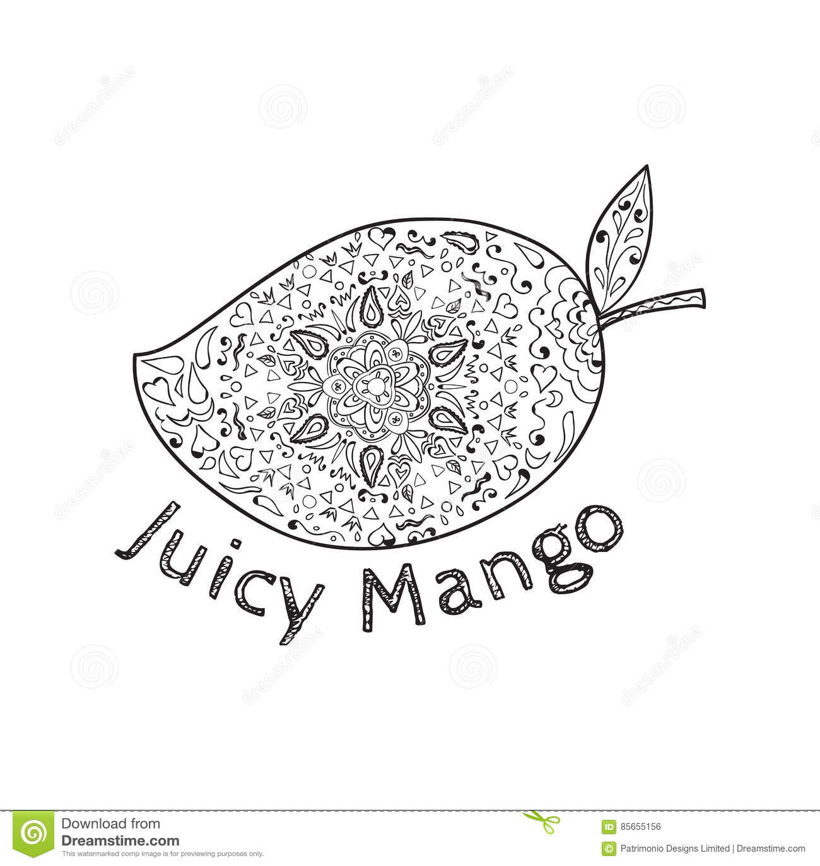 Soczysty Mangowy Czarny I Biały mandala