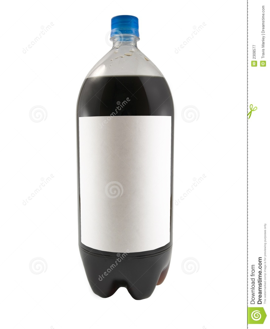 close up on a soda bottle isolated on a white background with a ...