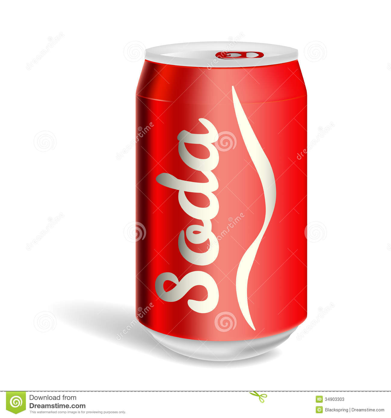 soda can stock vector illustration of cold disposable 34903303