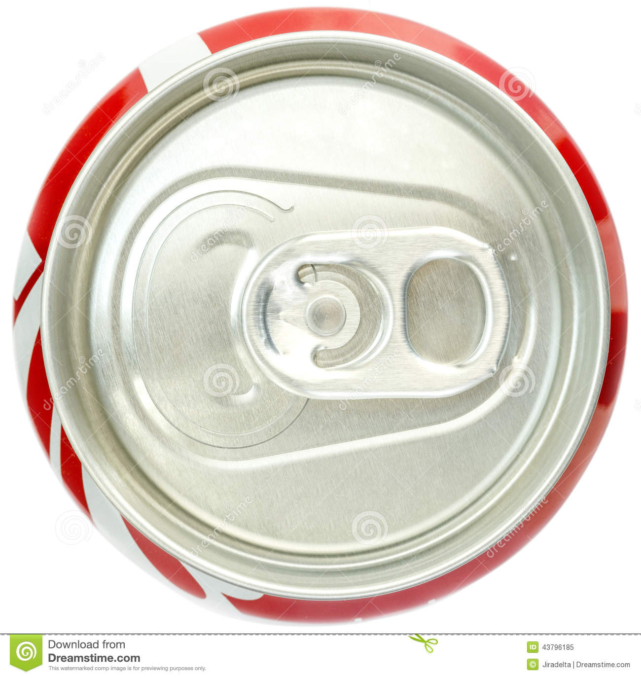 Soda Can Top View Stock Image. Image Of Close, Soda, Juice