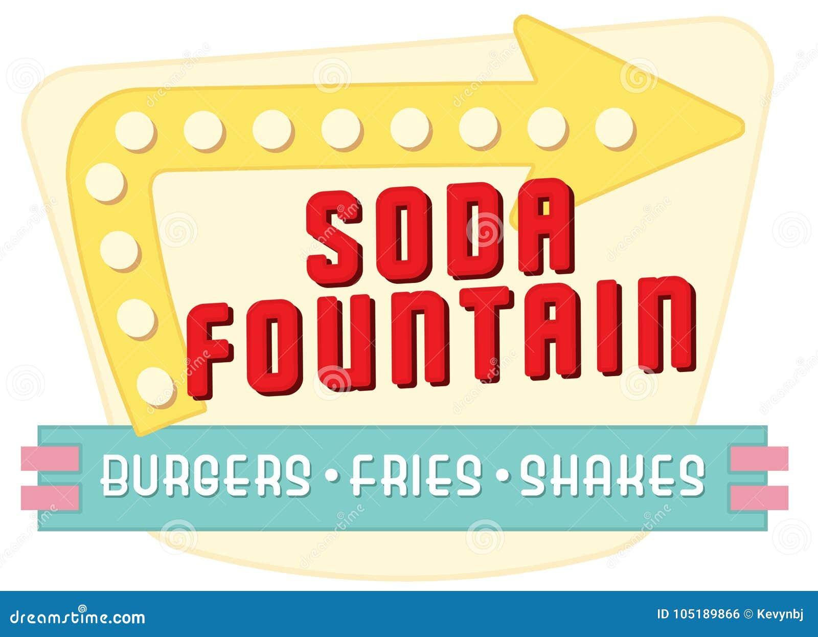 Soda Fountain Diner Sign