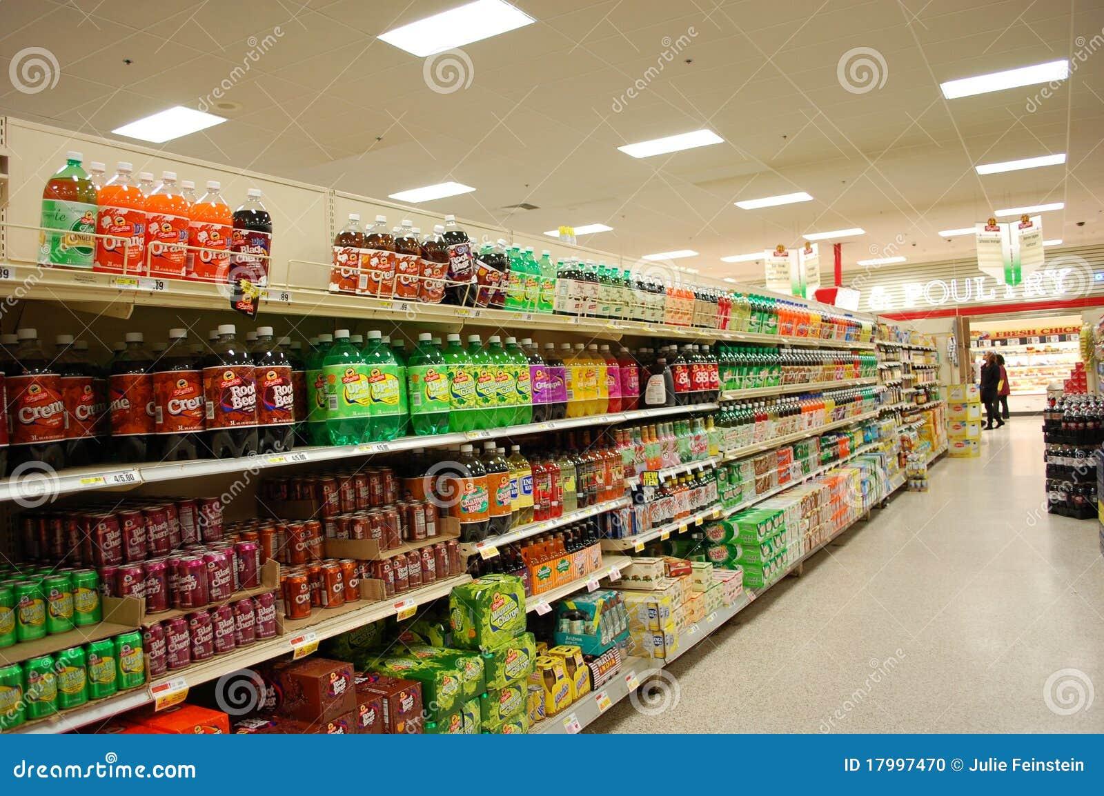 Soda-Gang im Supermarkt