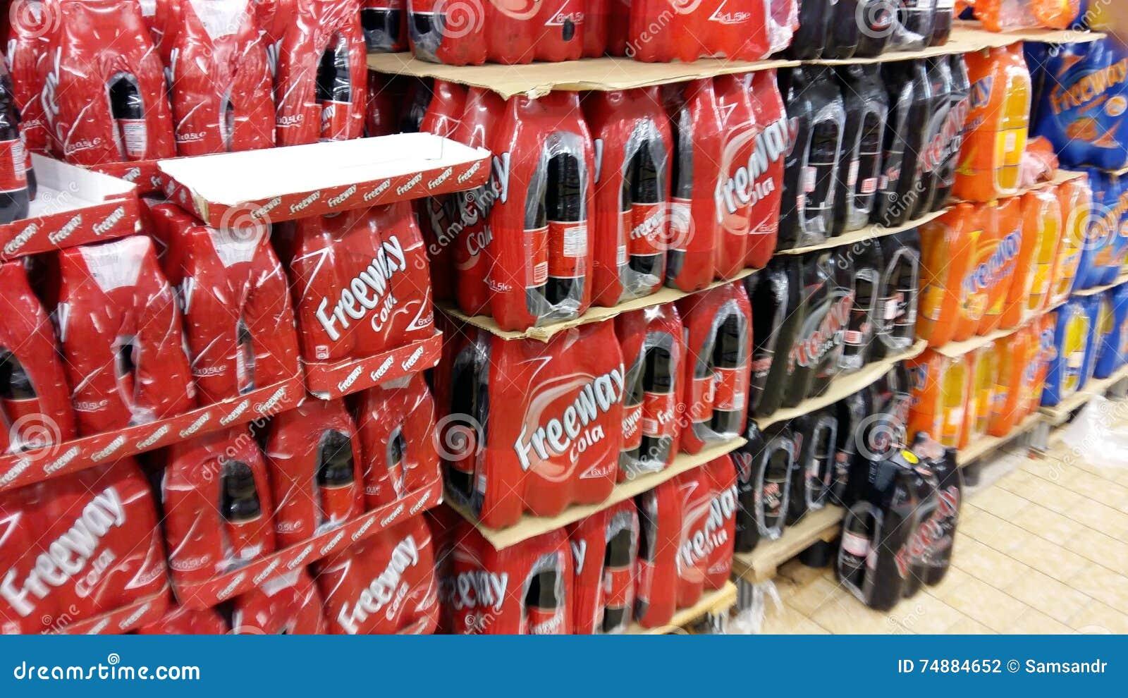 Soda no supermercado