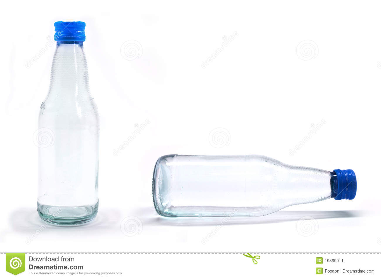 Soda Water Bottle With Blank Label. Isolated On Wh Stock Image ...