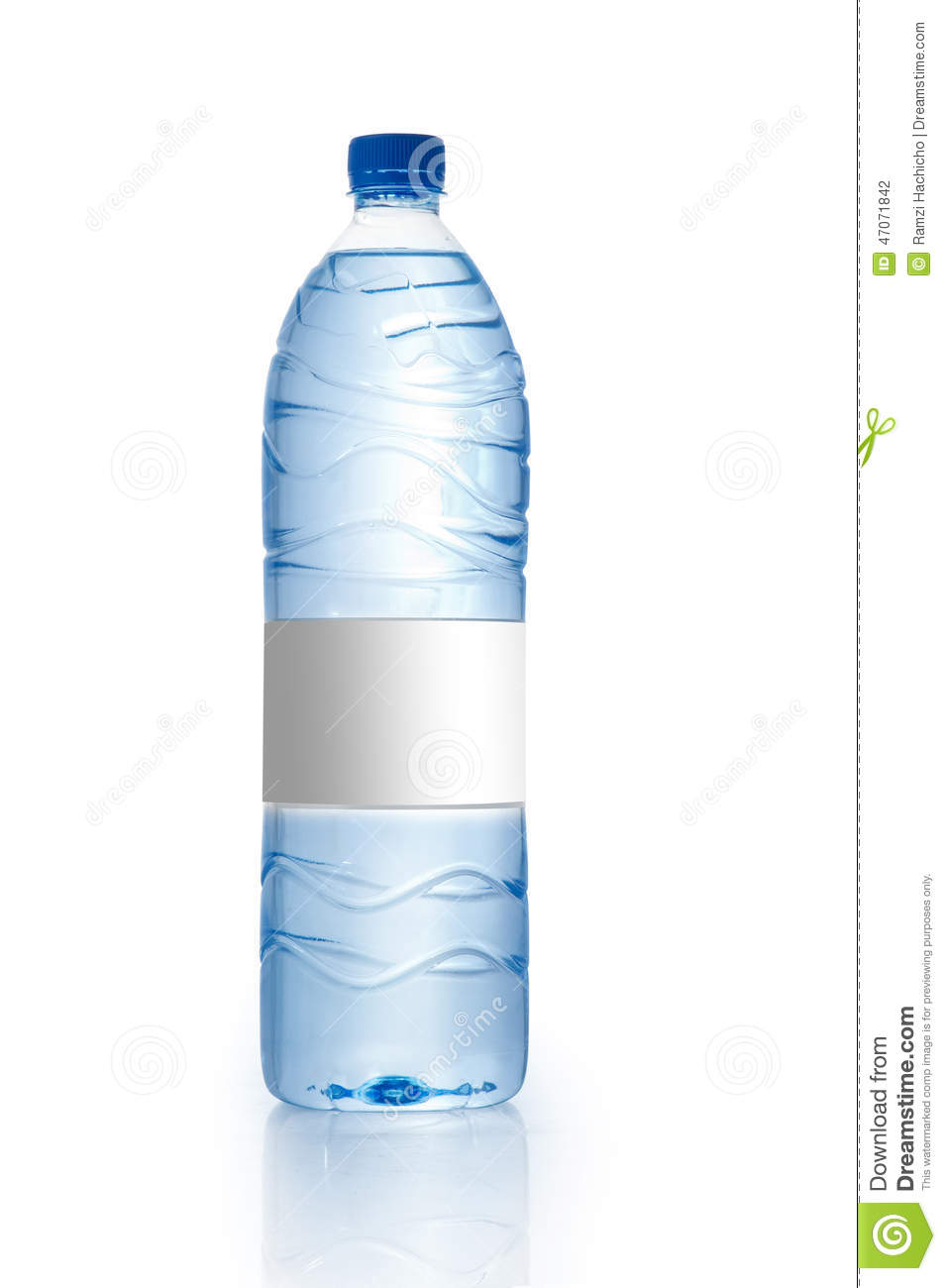 Soda Water Bottle With Blank Label. Isolated On White Stock Photo ...