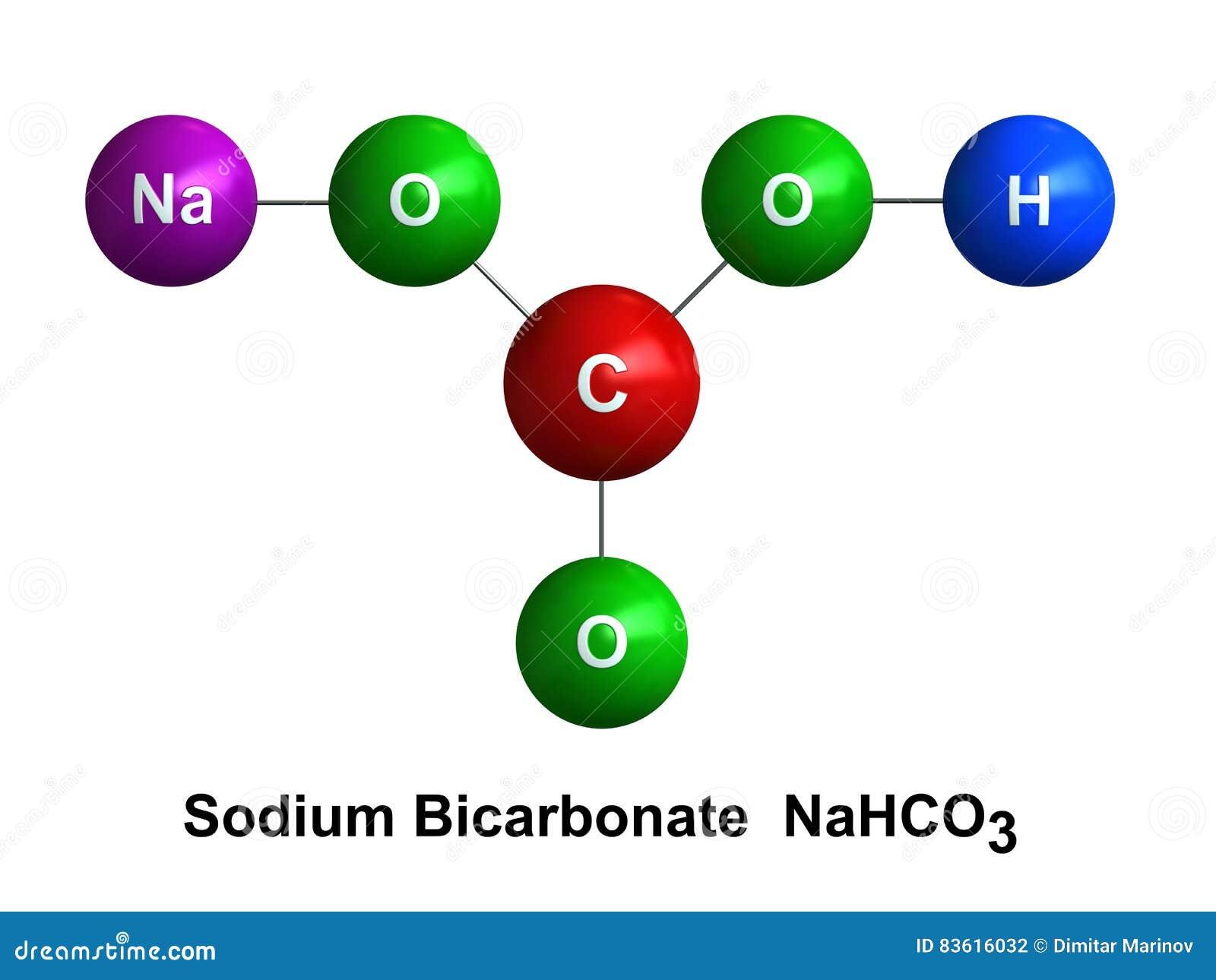 Sodium bicarbonate stock illustration image of - Bicarbonate de soude ou sodium ...