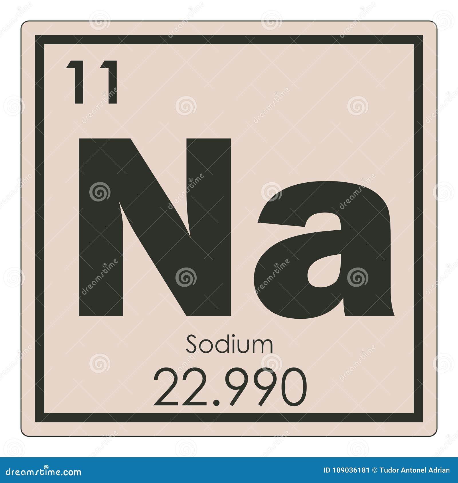 Sodium Chemical Element Stock Illustration Illustration Of Symbol