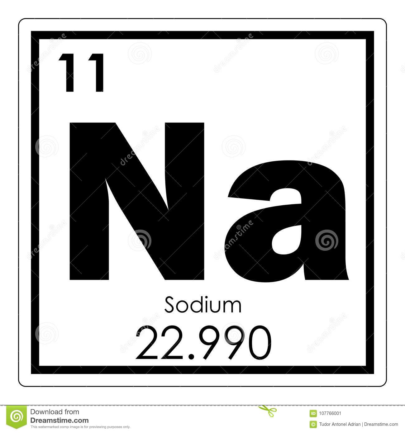 Sodium Chemical Element Stock Illustration Illustration Of Formula