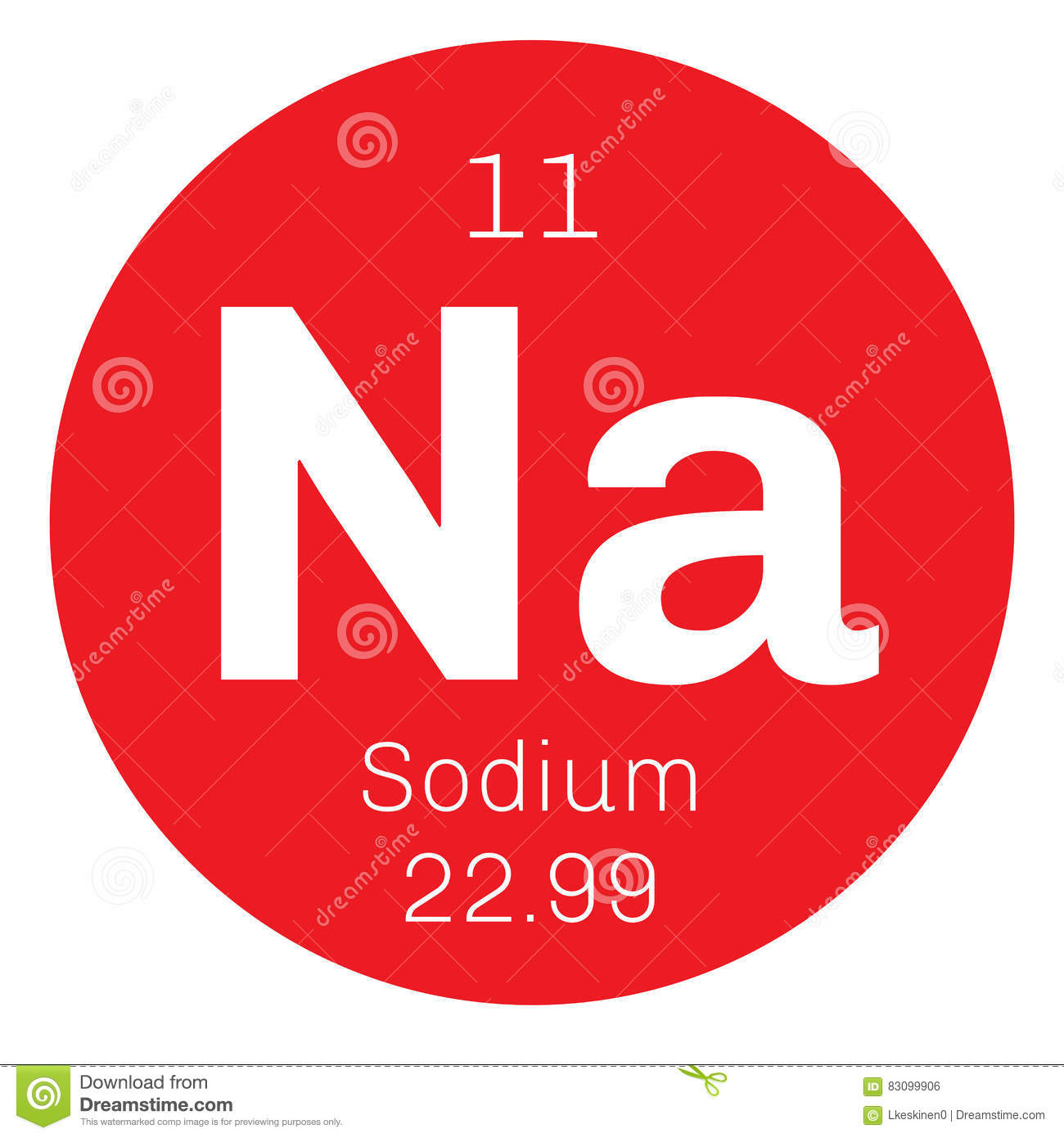 Sodium Chemical Element Stock Vector Illustration Of Laboratory