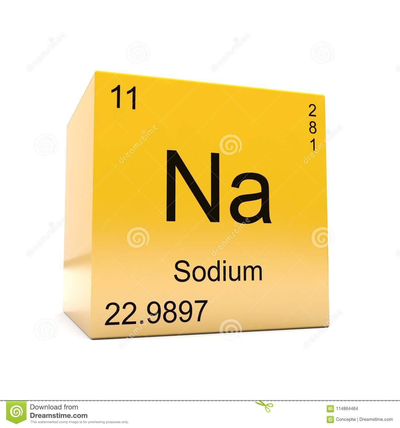 Sodium Chemical Element Symbol From Periodic Table Stock