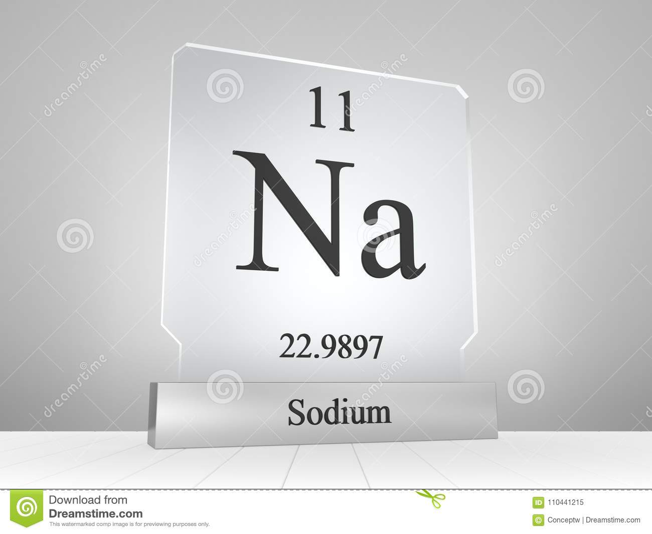 Sodium Symbol On Modern Glass And Metal Icon Stock ...