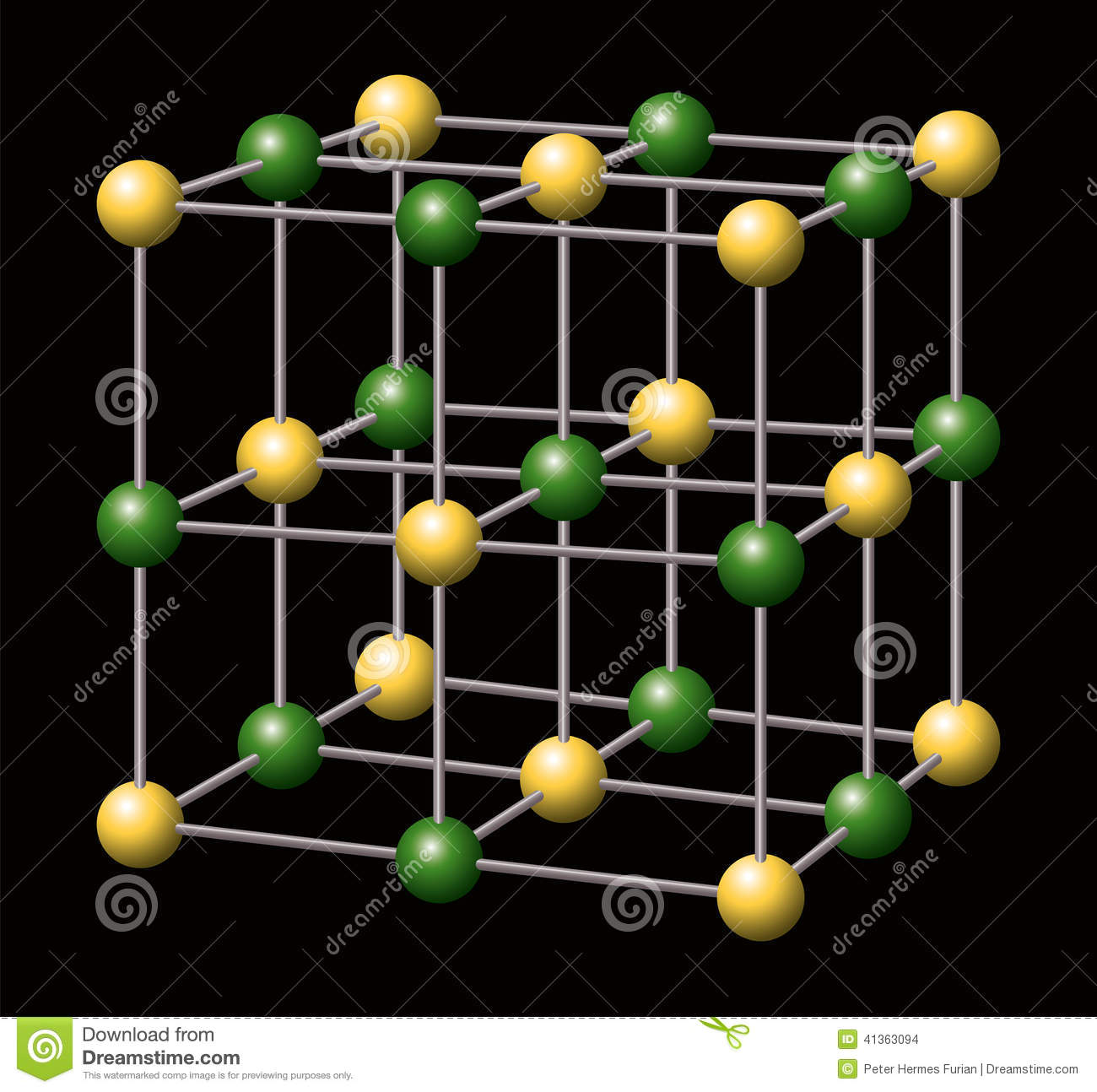 sodium chloride nacl salt stock vector image 41363094 dalton atom diagram