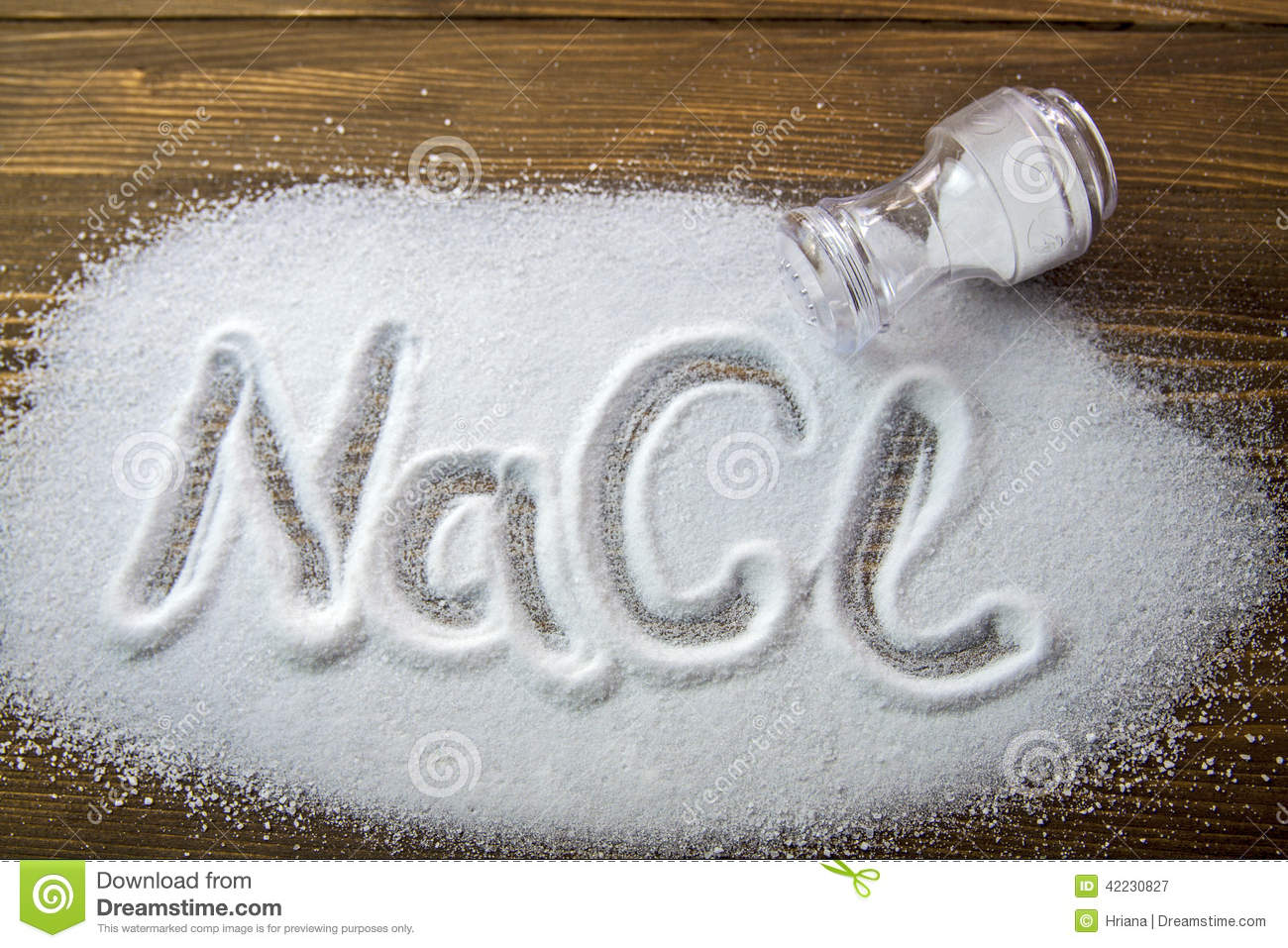 Sodium Chloride Salt Stock Image Image Of Condiment