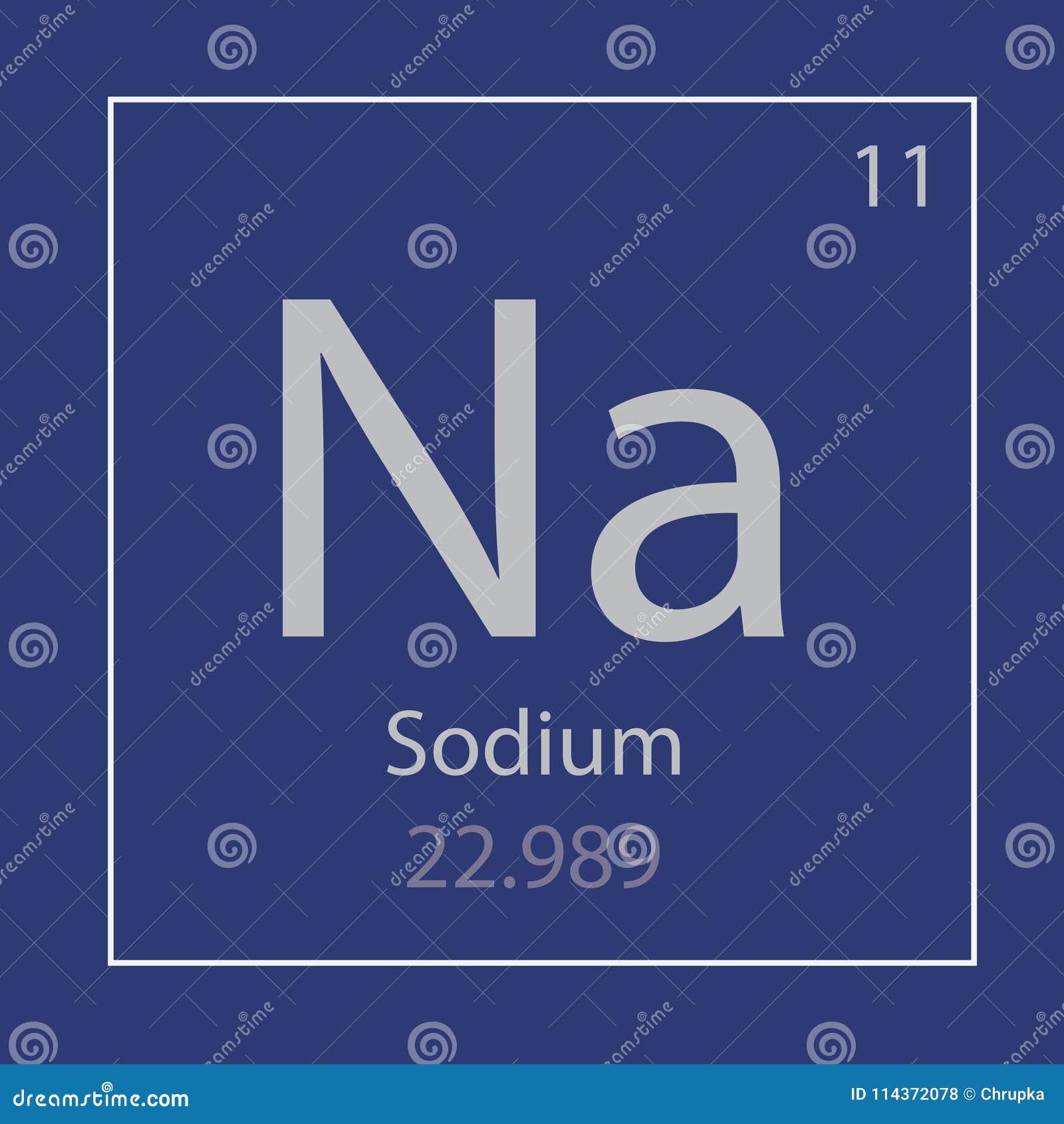 Sodium Na Chemical Element Icon Stock Vector Illustration Of
