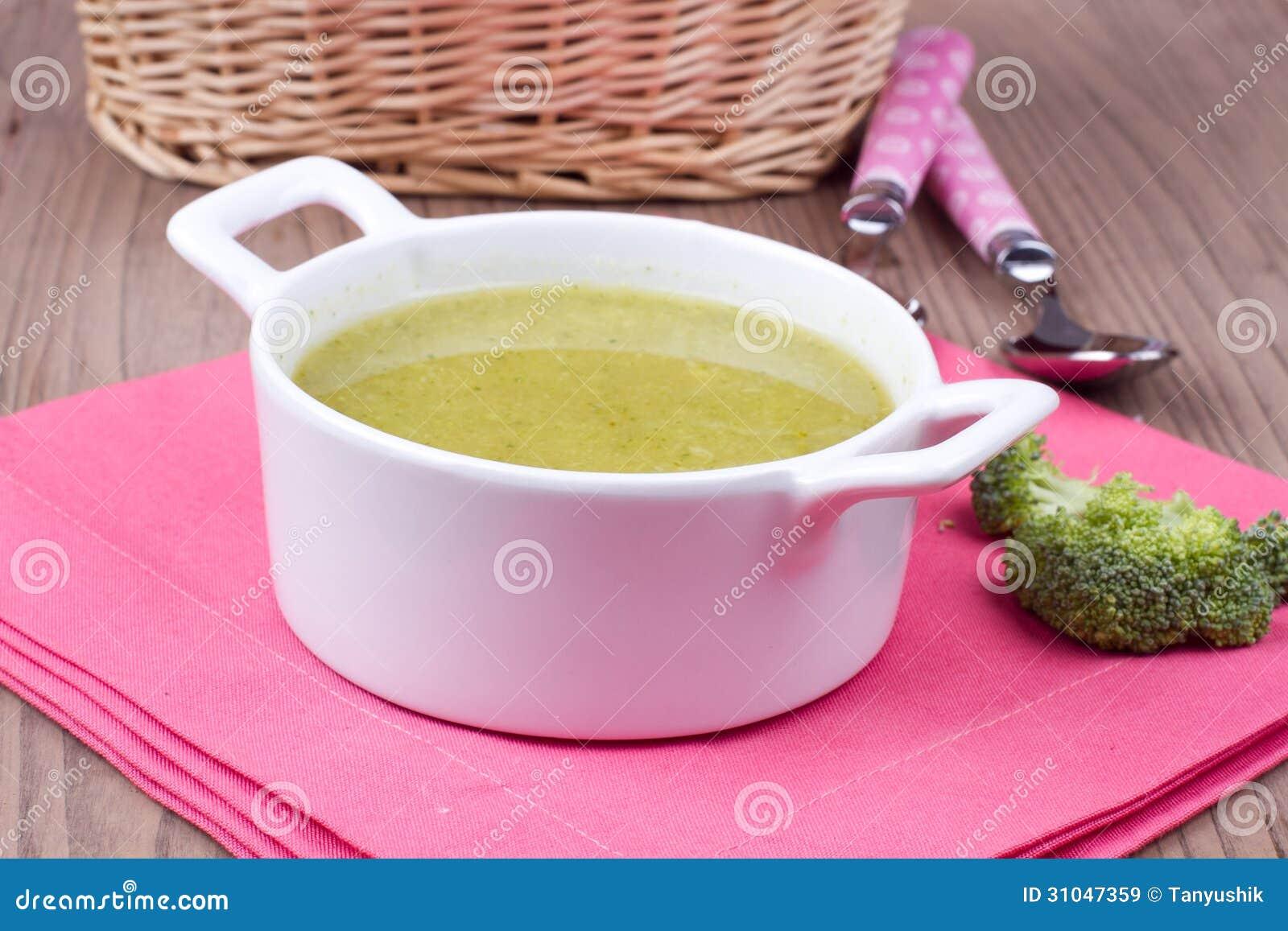 Soep met brocolli