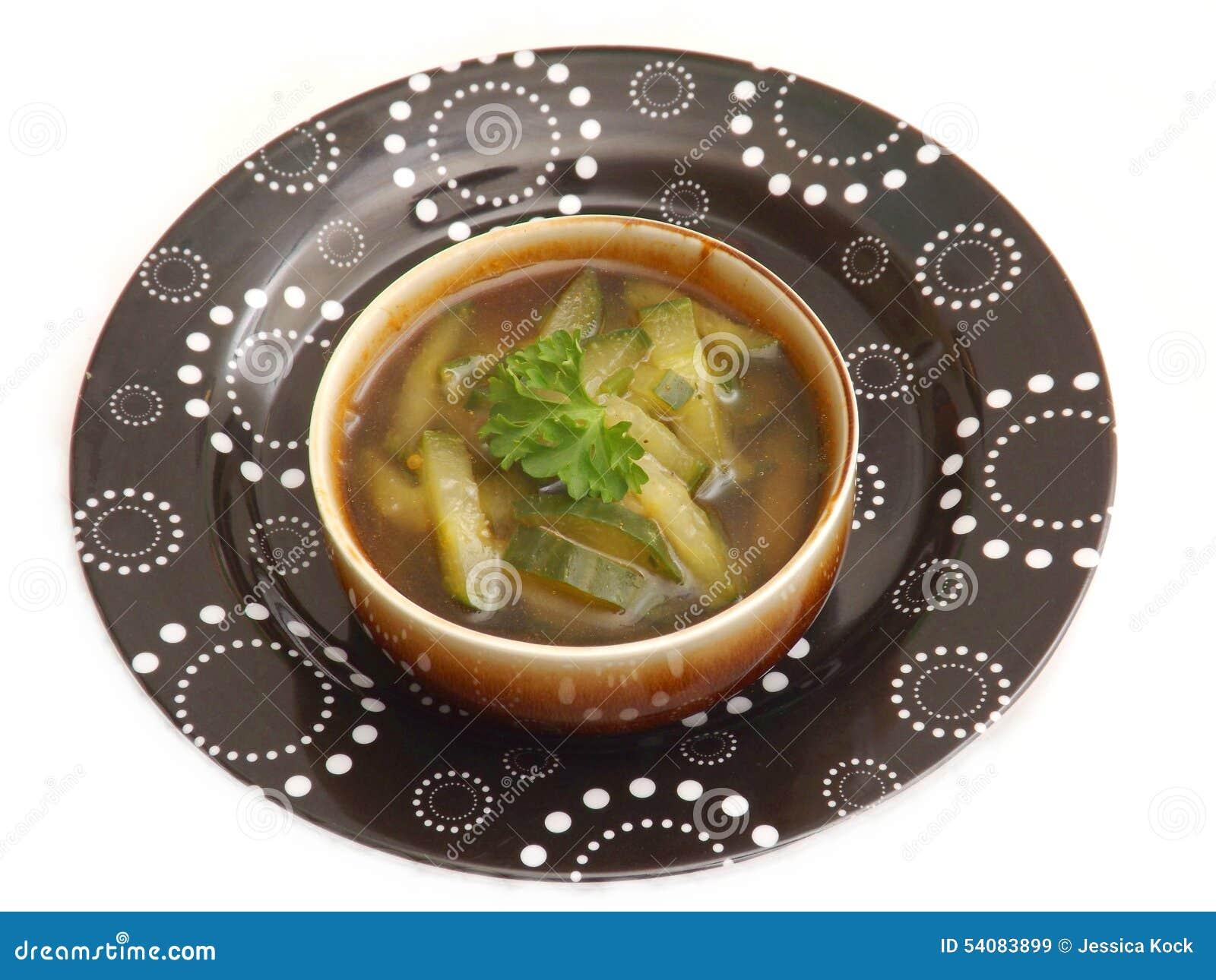 Soep van komkommer