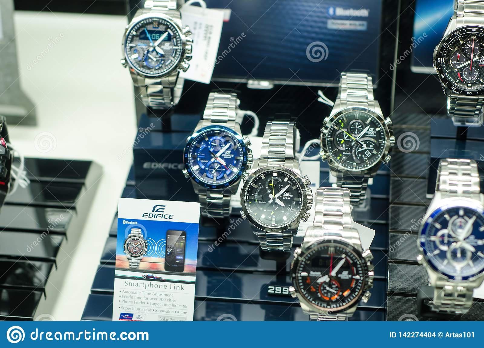 1f6dbc7ffe23 Soest, Germany - January 14, 2019: Casio Edifice In The Shop Window ...