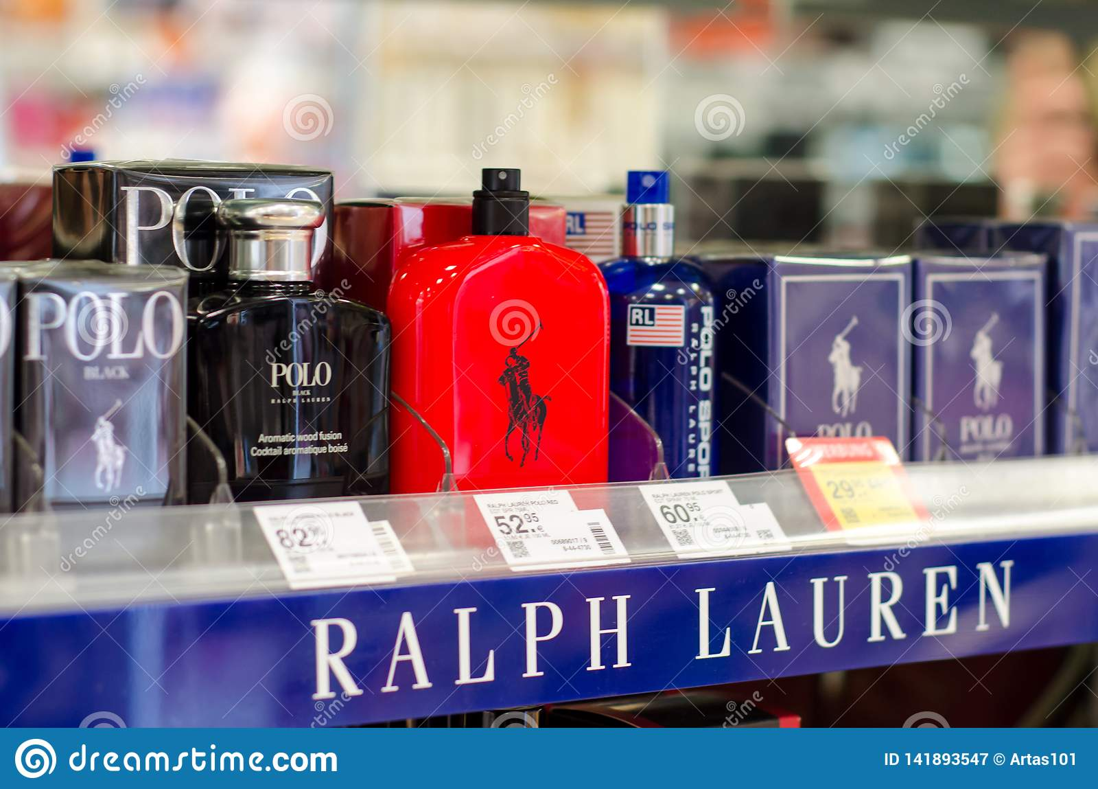 Soest, Germany - January 3, 2019: Polo Ralph Lauren Perfume for sale in the shop