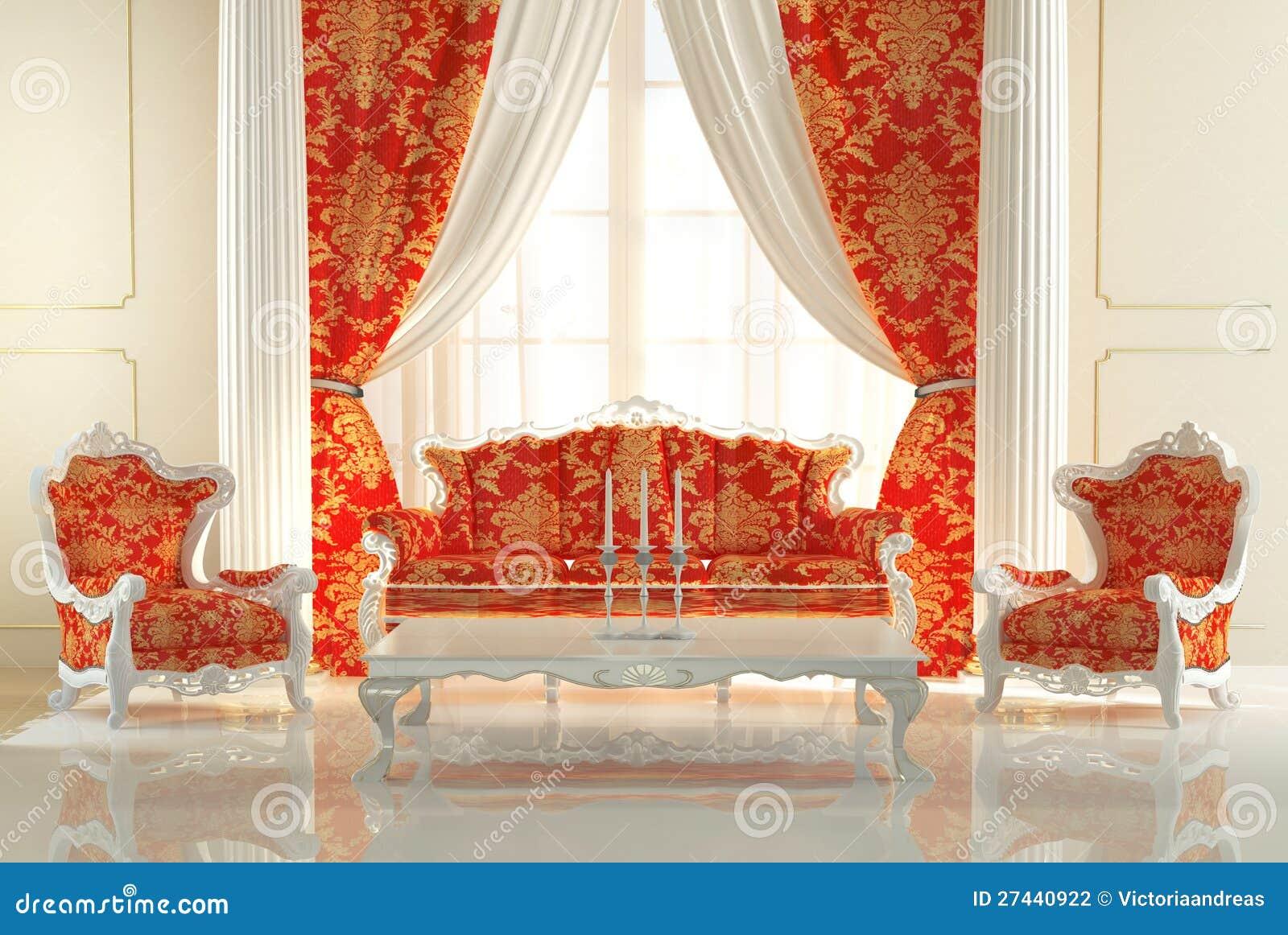Sof barrocco e poltrone reali fotografia stock immagine for Mobilia in inglese