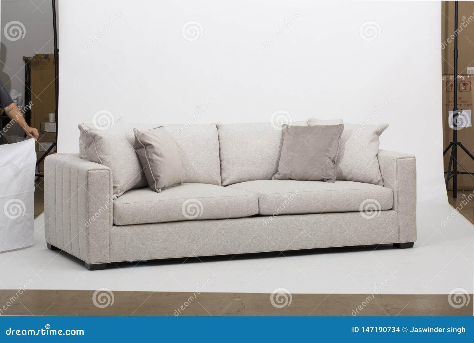 Sofà di Seater di bianco due - strato bianco di due Seater