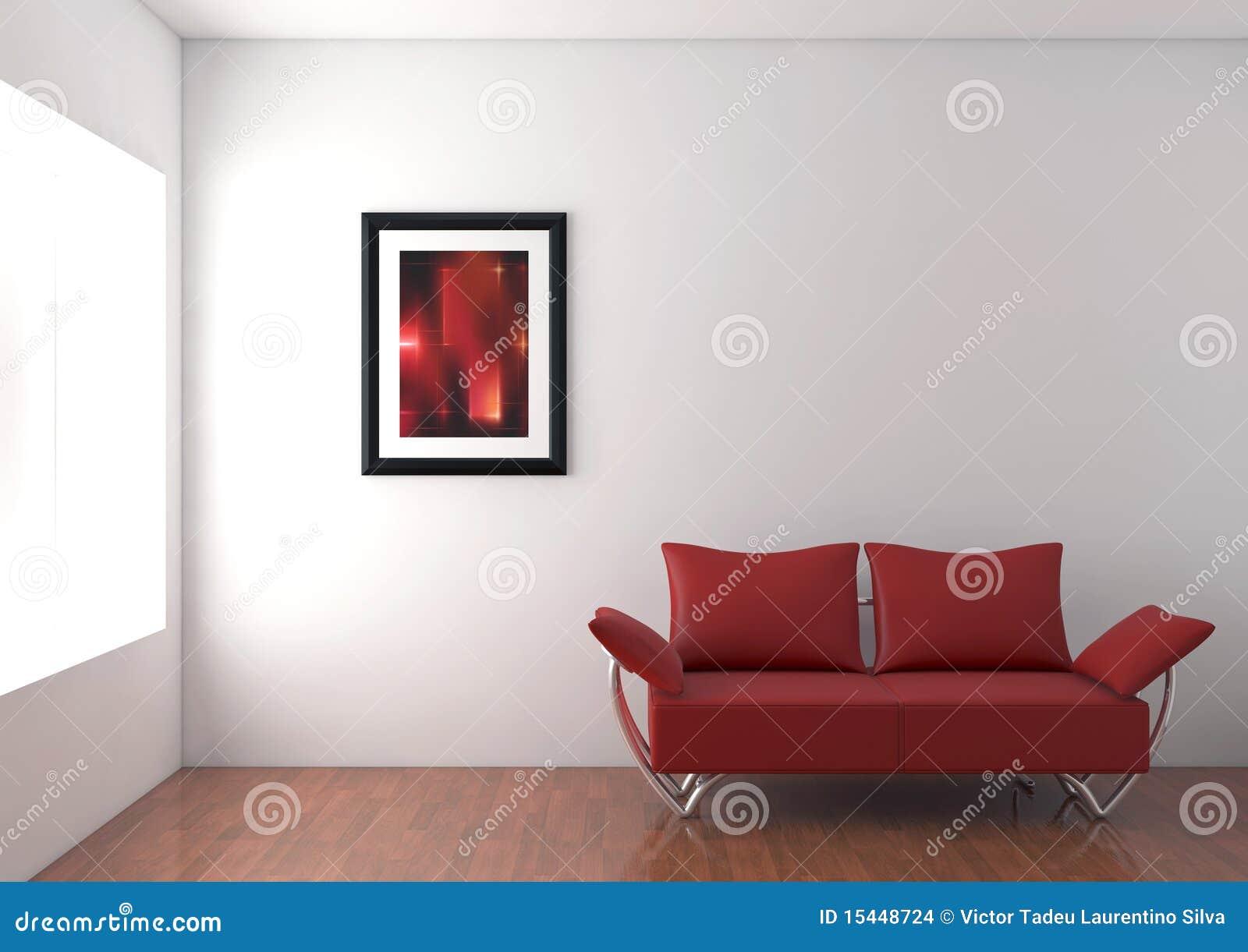 Sofà moderno nella sala