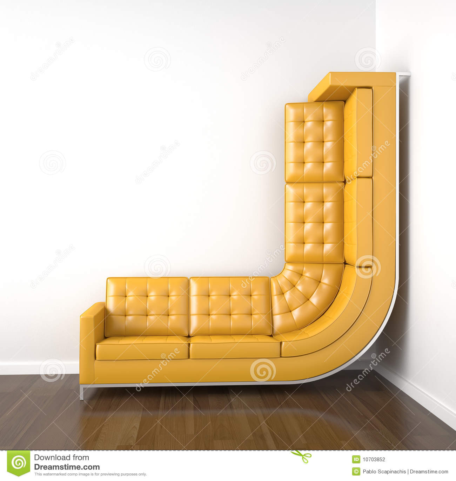 Sof amarelo dobrado para escalar acima foto de stock for Sofa von oben