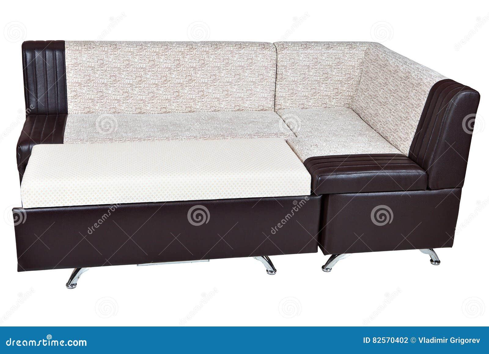Sof Cama De La Esquina En La Piel Artificial Muebles Para La  # La Esquina Muebles
