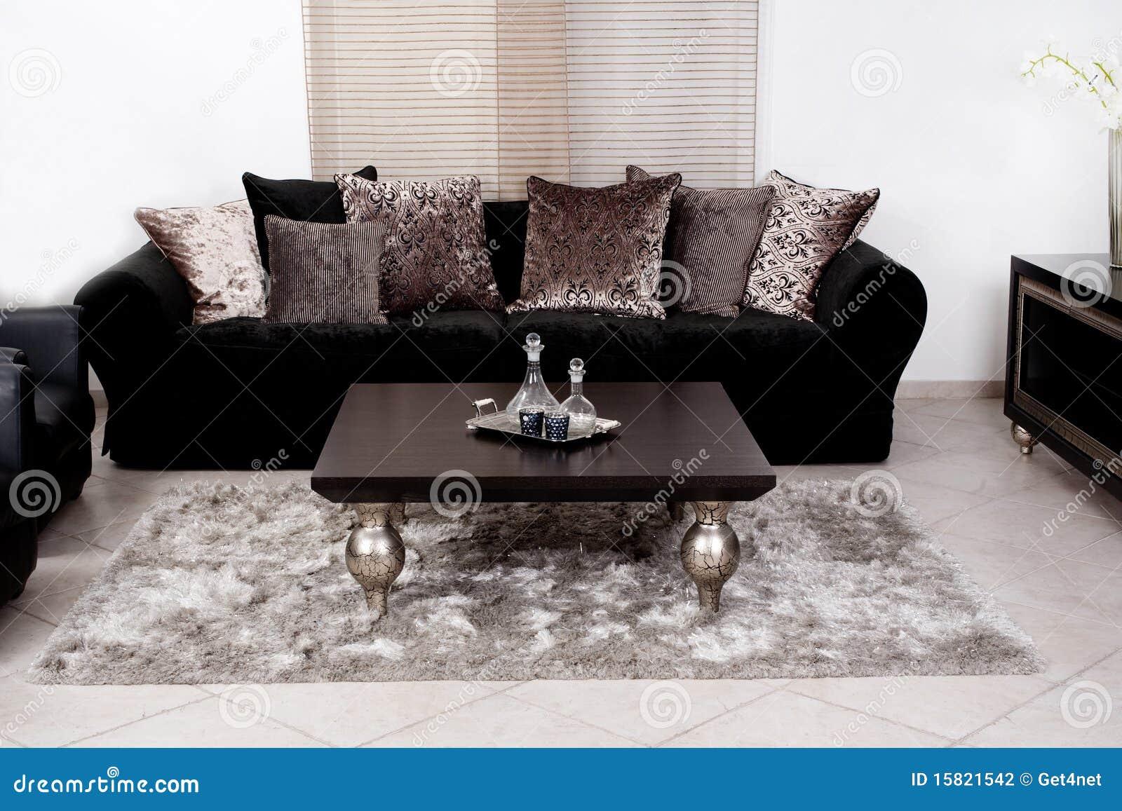 #82A328 Fotografia de Stock: Sofá colorido preto moderno da tela 1300x957 píxeis em Decoração De Sala Pequena Com Sofá Preto