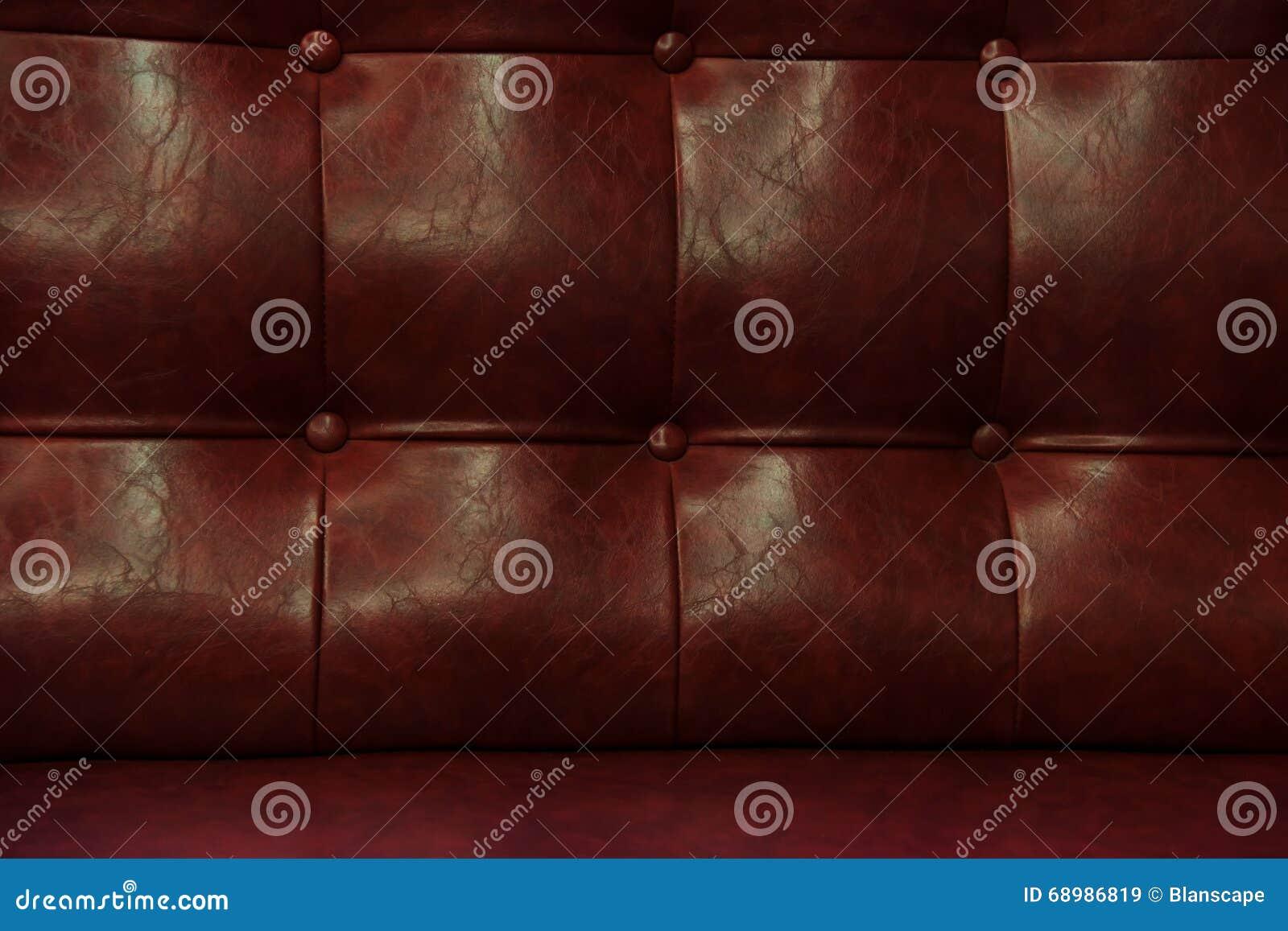 Sofá de cuero rojo del vintage