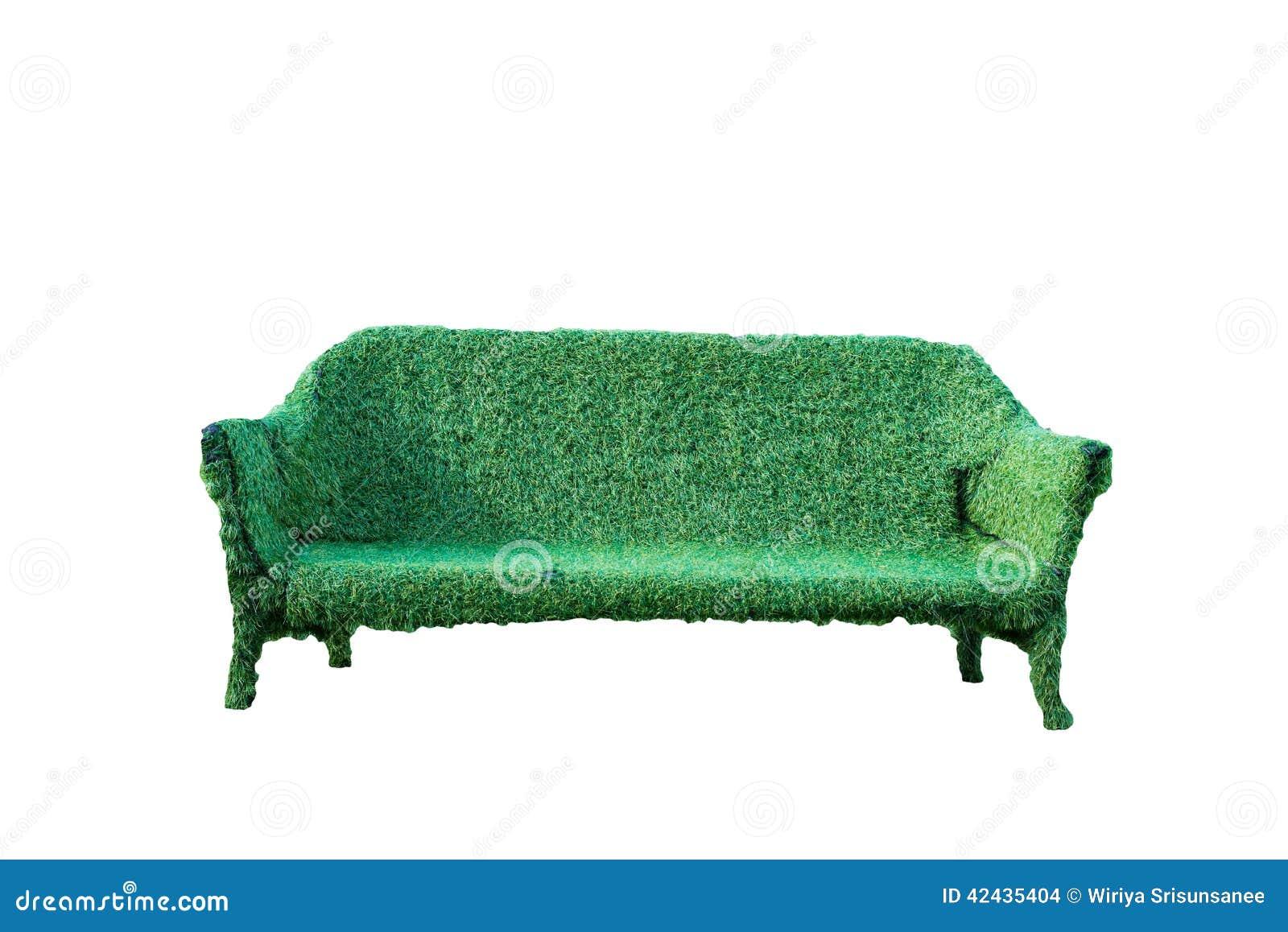 Sofá de la hierba aislada
