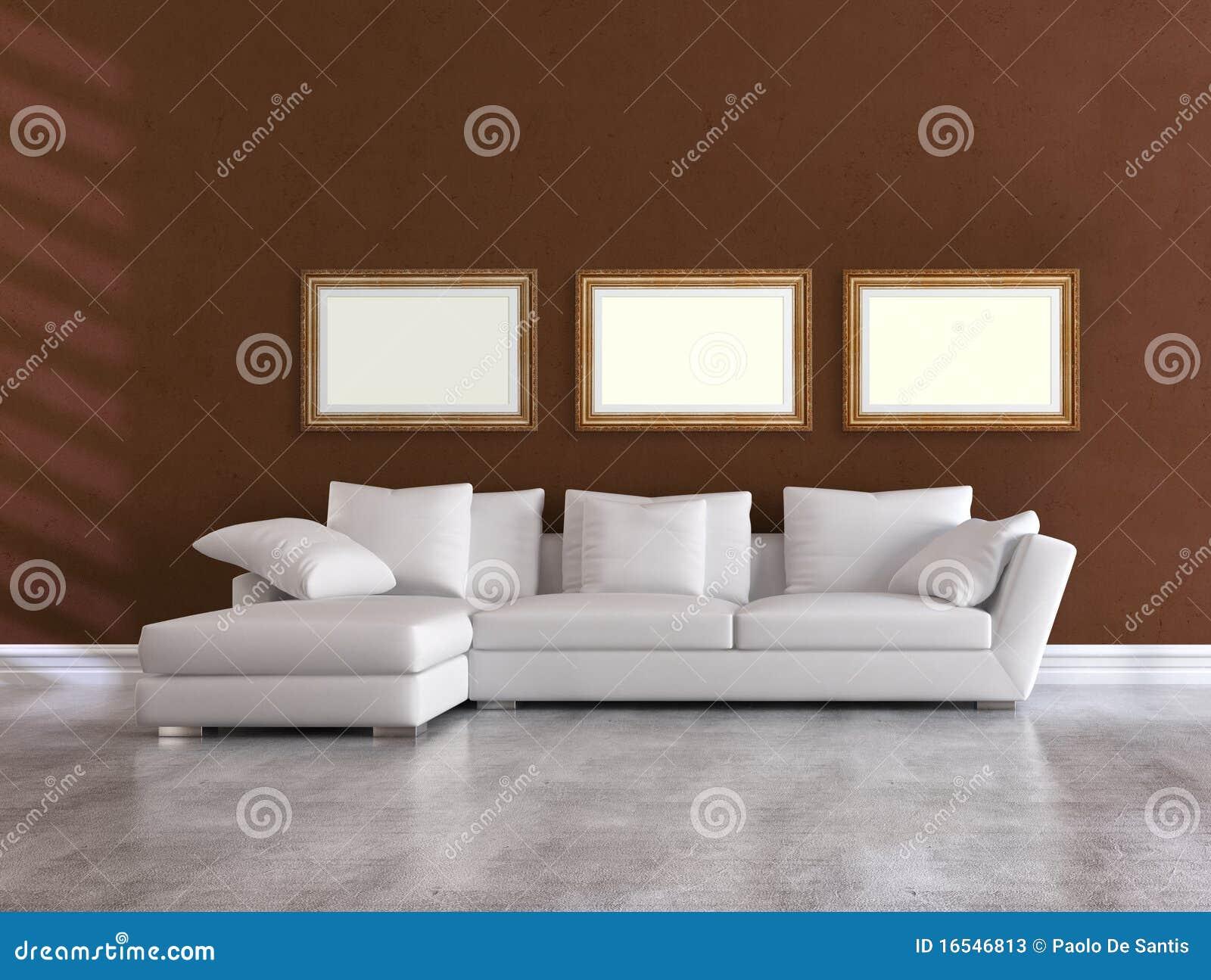 Sof elegante branco fotos de stock imagem 16546813 for Sofa elegante