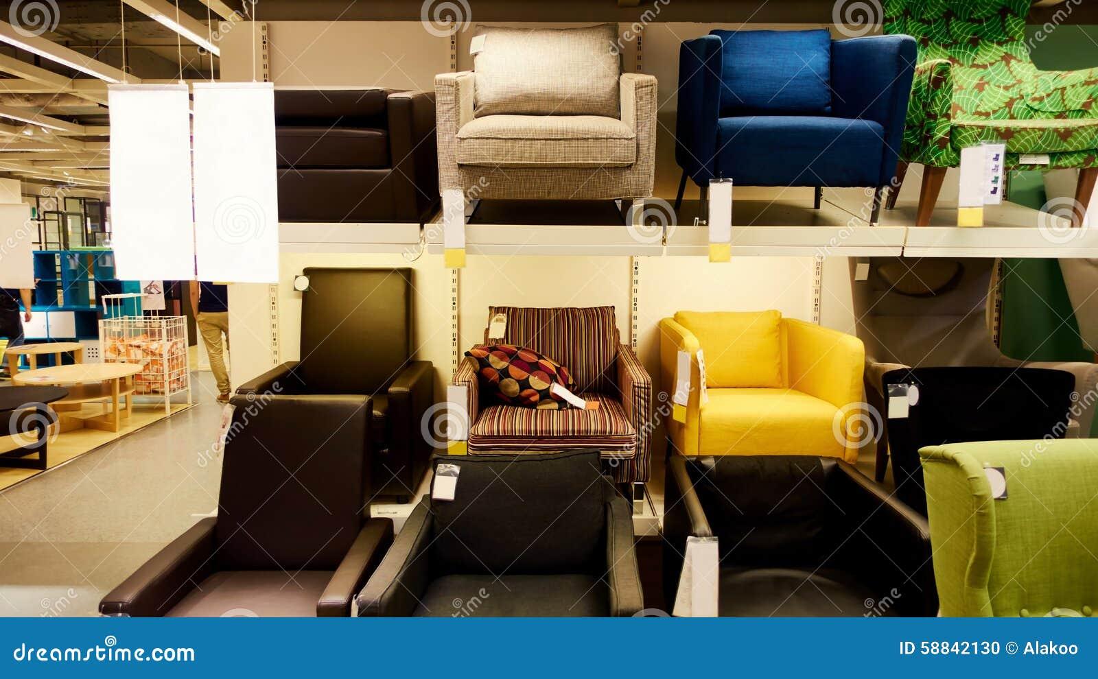 Sof en tienda moderna de la tienda de muebles foto de - Muebles yecla catalogo ...