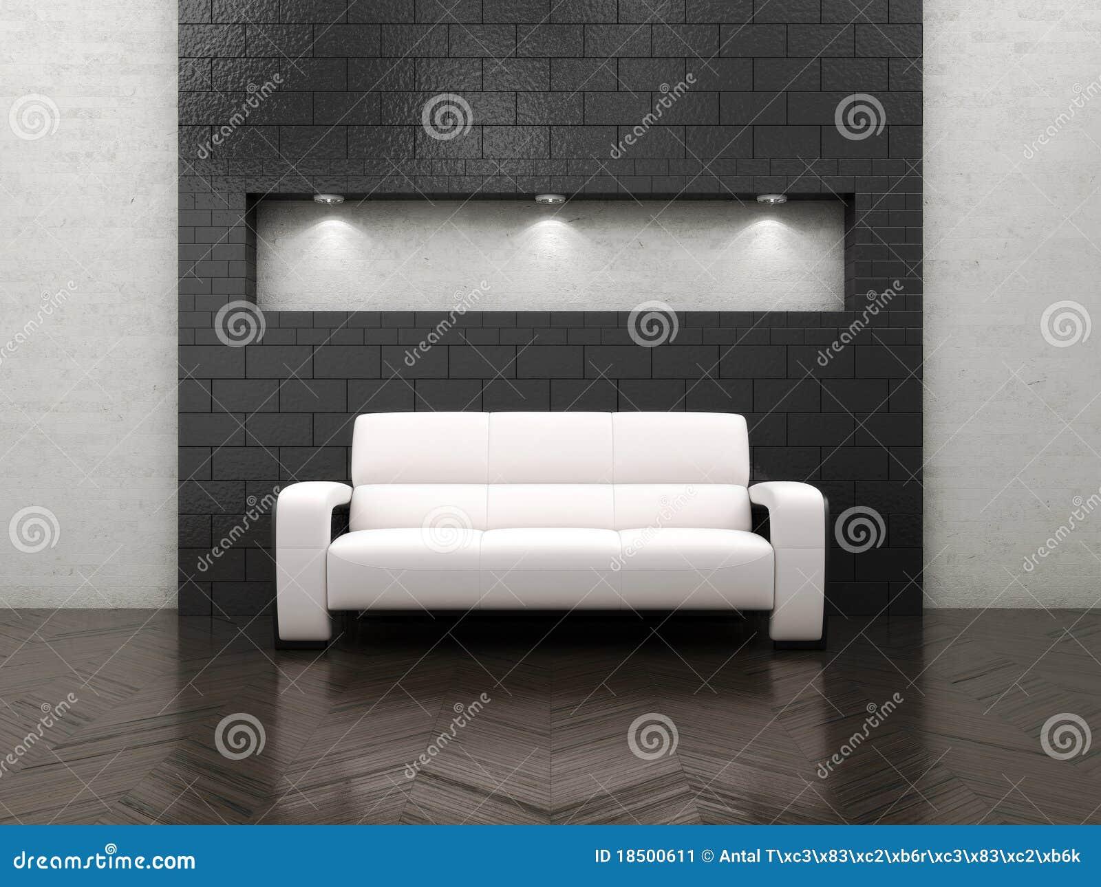 Sofá interior vazio