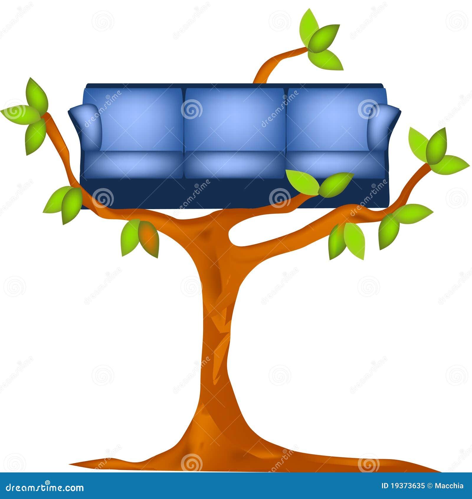 Sofá na árvore