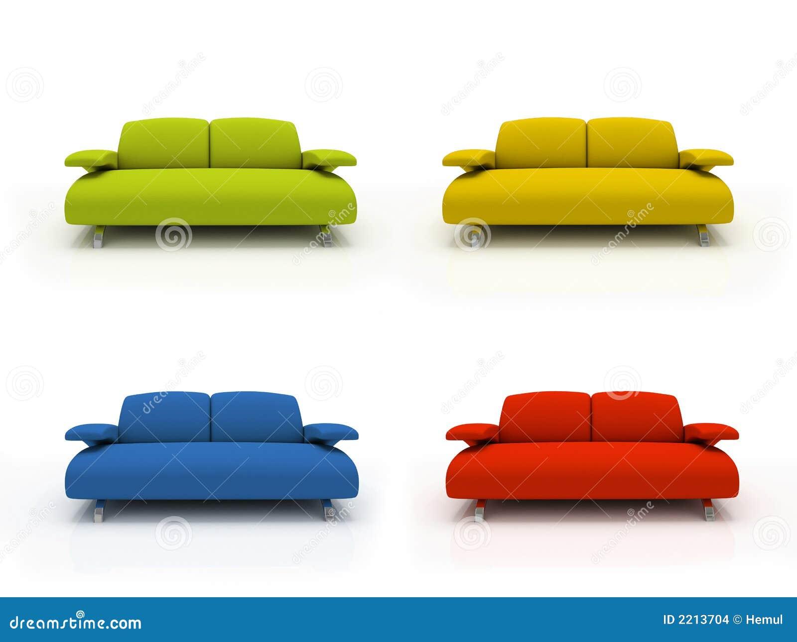 Sof s modernos coloridos imagenes de archivo imagen 2213704 for Imagenes de sofas