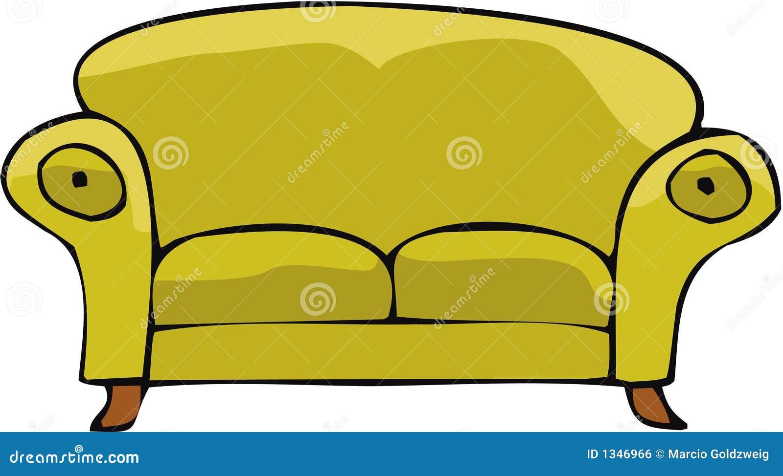 sofa 02 lizenzfreies stockbild bild 1346966 clip art cough clipart couch symbol