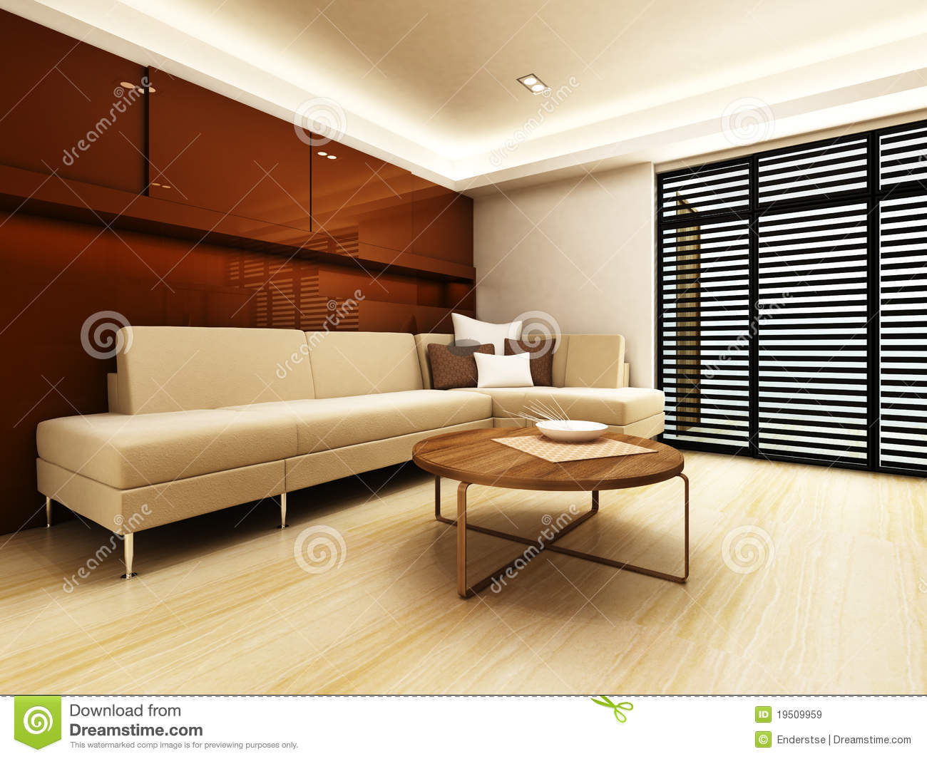 Sofa Area Of A Modern Living Room Royalty Free Stock