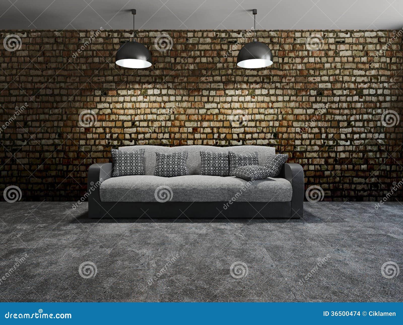 Sofa avec des oreillers