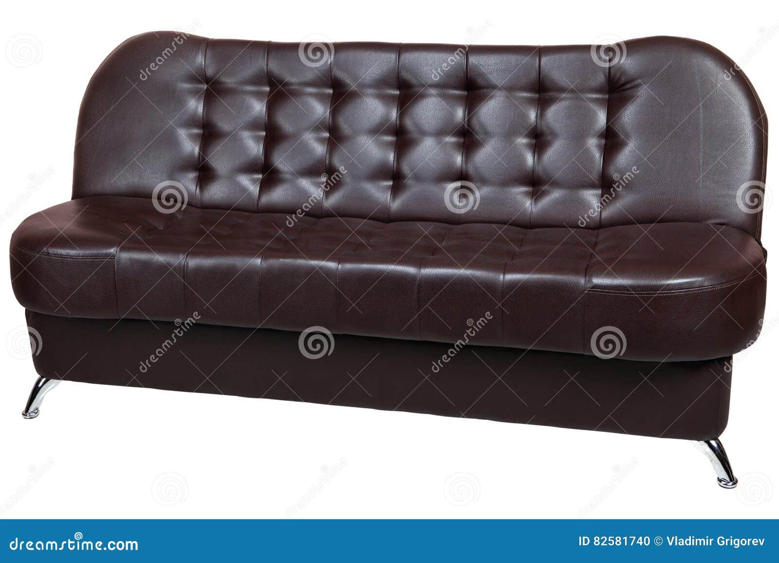 Sofa Brun Avec Convertible Faux La De Bed Foncé Leather Couleur IYf6yb7vg