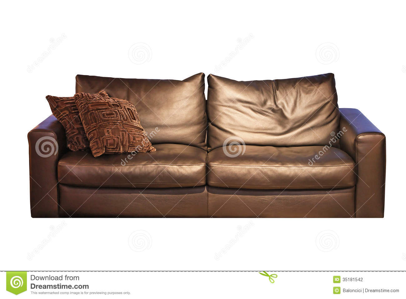 brown leather sofa isolated - photo #7