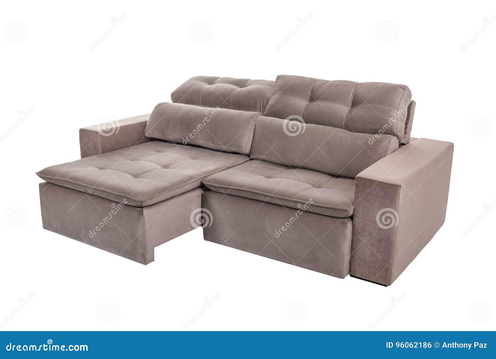Sofa brun confortable de trois sièges