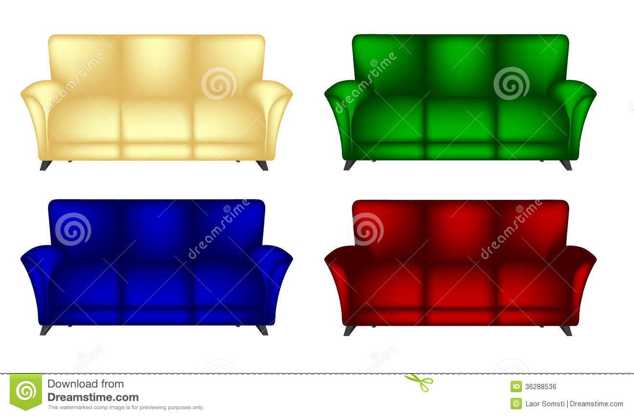 Sofa Chair Stock Vector Illustration Of Graphic Clipart