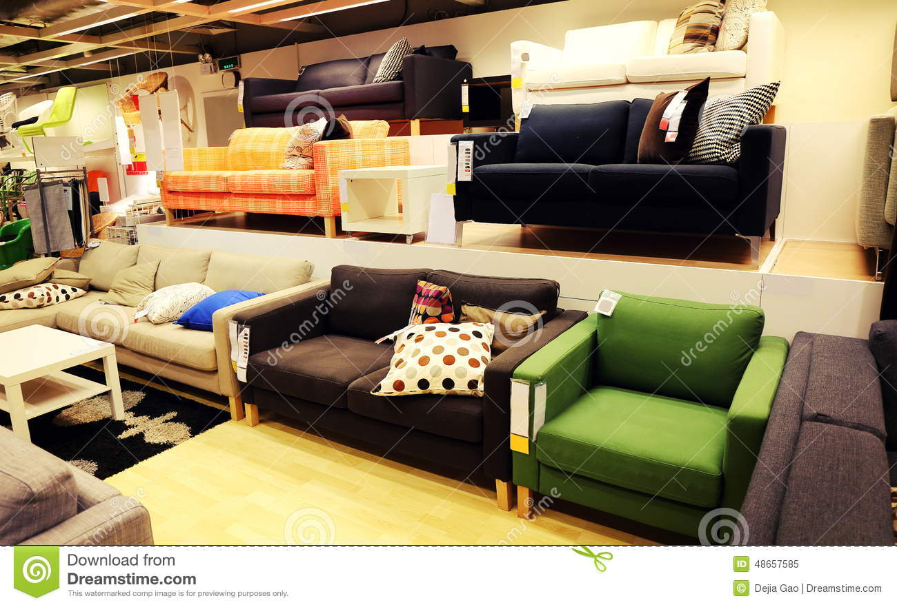 Modern furniture store retail shop stock image image for Contemporary furniture warehouse